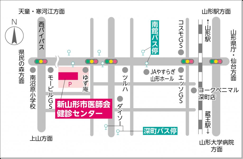 健診センター所在地案内図
